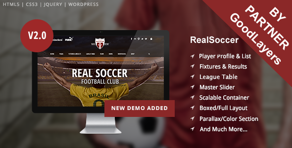 RealSoccer WordPress sport theme | JoomSport.com